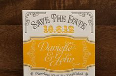 Items similar to Alchemy Save The Date Design on Etsy Marigold Wedding, Save The Date Designs, Marriage, Dating, Unique Jewelry, Handmade Gifts, Etsy, Valentines Day Weddings, Kid Craft Gifts