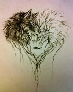 Inside each of us are two wolves. The one is Evil , the other is Good. There is a constant battle beteween them. The one who wins is the one you feed the most <3 i love this beyond words. One day i will have this tattoo :)