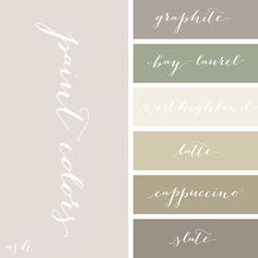 restoration hardware paint colors, perfect palette for the beach house Colour Pallette, Colour Schemes, Color Patterns, Room Colors, Wall Colors, House Colors, Interior Paint Colors, Paint Colors For Home, Paint Colours