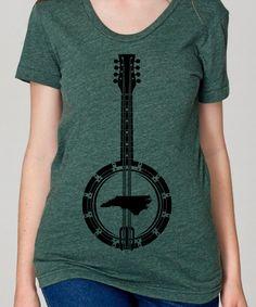 North Carolina Banjo t shirt.