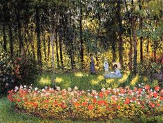 The Artist's Family in the Garden - Claude Oscar Monet