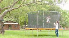 10ft. Round Trampoline & Safety Net Enclosure Combo