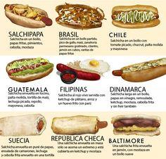 Diferentes tipos de perros calientes II. Foodrepublic.com