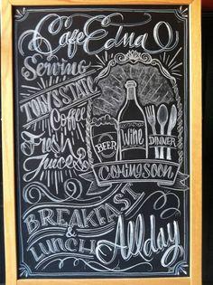cafe chalkboard art - Google Search