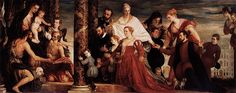 The Palazzo Papadopoli : Paolo Veronese, The Adoration of the Virgin by the Coccina family, Gemäldegalerie Alte Meister, Dresden. European Paintings, Classic Paintings, Michelangelo, Dresden, Web Gallery Of Art, Family Poster, Museum, Thing 1, Italian Painters