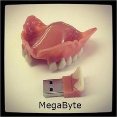 Megabyte Denture! #Dentist #Dental Jokes #Hygienist #Dentaltown #Quotes