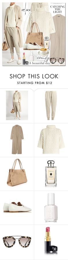 """Untitled #1484"" by elena-777s ❤ liked on Polyvore featuring Brunello Cucinelli, The Row, MaxMara, Jo Malone, Essie, Prada, Chanel and autumnwinter2016"
