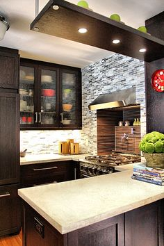 Granite - simple, Contemporary, Flat Panel, Inset, Glass Panel, L-Shaped, Flush/Semi-Flush Mount