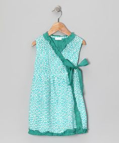 Take a look at this Beehive Blue Wrap Dress - Infant & Girls by Handprint on #zulily today!
