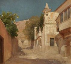 Richard and Isobel Burton's House in Damascus  -  Frederic Leighton (1873)