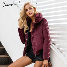 Products  Snap Fashion   Brand Name: SIMPLEE  Material: Polyester  Clothing Length: Regular  Pattern Type: Solid  Hooded: No  Closure Type: Zipper  Type: Regular  Thickness: Thick  Sleeve Length(cm): Full  Filling: Cotton  Style: Casual  Fabric Type: Velvet  Decoration: PocketsZippers  Weight: 950g  Gender: Women  #instastyle #fashionaddict #styleblogger #fashion #fashionblogger #fashionista #fashionable #fashionstyle #fashionblog #fashiongram #FashionAddict #fashionweek #fashiondiaries…
