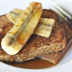 Peanut Butter French Toast with Caramelised Banana.