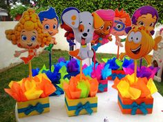 Bubble Guppies 1st 2nd 3rd 4th 5th Birthday Centerpieces set of 6 or 8 on Etsy, $99.00