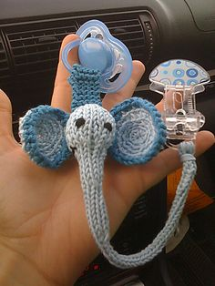 Ravelry: Pacifier Clips: Elephant pattern by Susan B. Anderson