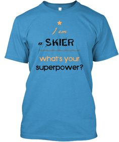 I love skiing, you love skiing, everyone loves skiing. Let us all ski to the end of times and express it through fashionable clothing ideas. World Of Color, Super Powers, Shirt Style, Skiing, Just For You, Fashion Outfits, My Love, Sweatshirts, Mens Tops