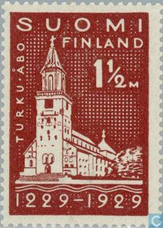 Postage Stamps - Finland - 700 years Turku