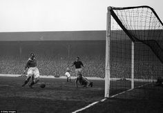 Scottish centre forward Hughie Gallacher scores the first ever Chelsea goal…