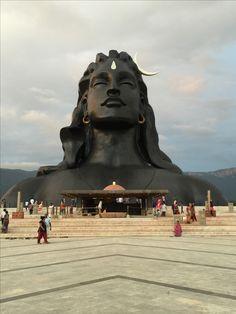 Adiyogi Shiva. Isha Yoga center, Tamil Nadu - India Shiva Linga, Mahakal Shiva, Shiva Statue, Shiva Art, Lord Shiva, Krishna, Photomontage, Indian Art Gallery, Shiva Lord Wallpapers