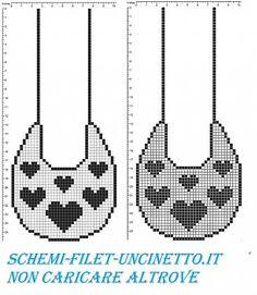 Filet Crochet Baby Bib Patterns : Bavaglino a filet con Disney Paperino schema filet ...