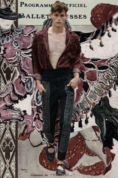 Dries Van Noten SS15 in GIFs! Paris menswear. More GIFs here: http://www.dazeddigital.com/fashion/article/20588/1/paris-ss15-gifs