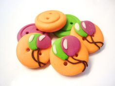 Balloons buttons by justfingerprint