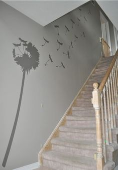 Paint in white near stairs?
