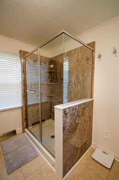 Complete Bathroom Remodel Walk In Shower All Gl Semi Frameless Brought To You By Re Bath Of The Triangle