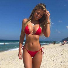 Sexy Bikini, Bikini Babes, Bikini Rot, Bikini Girls, Mädchen In Bikinis, Bikini Swimwear, String Bikinis, Beach Swimsuits, Summer Bikinis