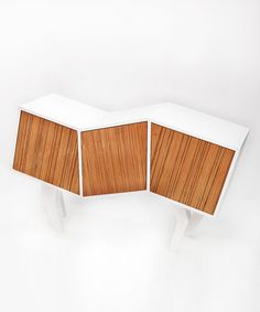 crooked wooden cabinet #design