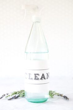 homemade cleaning spray with essential oils