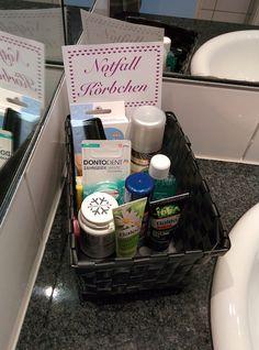 DIY Hochzeits - Tipp Nr. 1: Das Notfallkörbchen für das WC!