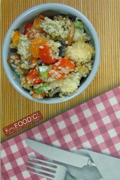QUINOA ALLE VERDURE è una ricetta facile, veloce e gluten free.  #glutenfree…