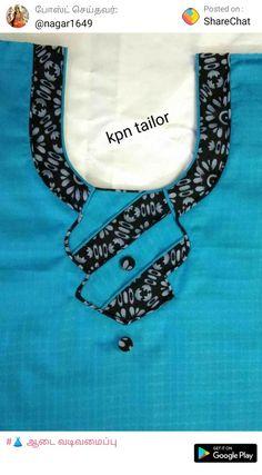 Needed now 2 Chudithar Neck Designs, Chudidhar Designs, Neck Designs For Suits, Neckline Designs, Blouse Neck Designs, Hand Designs, Salwar Neck Patterns, Salwar Neck Designs, Kurta Neck Design