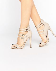 On SALE at 49% OFF! Rita strappy heeled sandals by Truffle Collection. Shoes by Truffle Collection, Patent, leather-look upper, Open toe, Multi pin buckle straps, Zip back fastening, High ...
