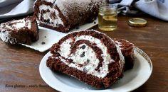 Rotolo al cacao  senza glutine ripieno di crema al mascarpone