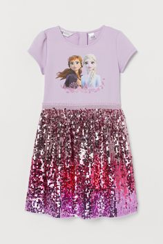 Dress with Sequins - Light purple/Frozen - Kids Disney Dresses, Disney Outfits, Kids Outfits, Girls Dresses, Frozen Fashion, Mode Kawaii, Little Girl Toys, Kids Clothes Sale, Frozen Dress
