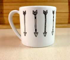 {omg, this is PERFECT} arrows painted mug - $8.00