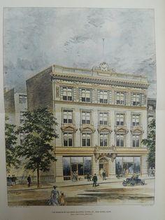 The Knights of Columbus Building, Chapel St., New Haven, CN, 1904. Original Plan. John L. Faxon.