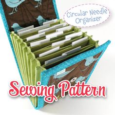 Now you can make your very own accordion style circular knitting needle organizer, designed by me. ------------------------------------------------------------------------------------------------------------------------- *THIS LISTING IS FOR A SEWING PATTERN, NOT A PRE-MADE COUPON ORGANIZER.* ------------------------------------------------------------------------------------------------------------------------- This 8 page sewing pattern includes full size pattern templates, instructions…