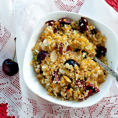 Cherry almond cous cous