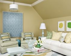 family room with great colors