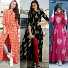 Indian Gowns Dresses, Indian Fashion Dresses, Indian Designer Outfits, Simple Kurti Designs, Kurta Designs Women, Designer Party Wear Dresses, Kurti Designs Party Wear, Frock Fashion, Fashion Outfits