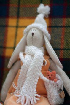 Tilda bunny toy by SunnyToys on Etsy, $24.90