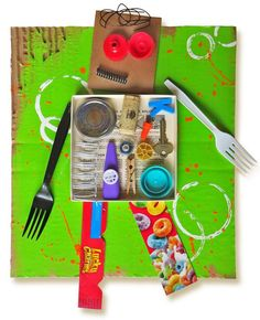 Recycled Robots Craft for Kids, perfect for an Earth Day Craft or after reading a fun book about robots.