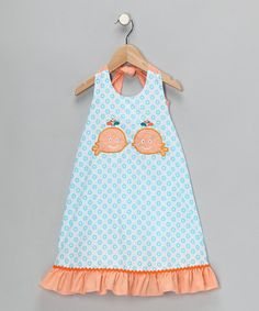 Take a look at this Turquoise Whale Halter Dress - Infant, Toddler & Girls  by Candyland on #zulily today!