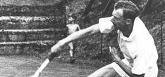 Benjamin Britten playing tennis.