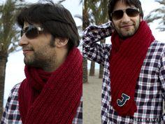 bufandas tejidas en dos agujas para hombres , Buscar con Google