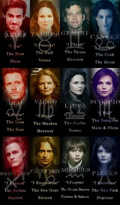 Photo: More OUAT (Once Upon a Time) Zodiacs (BTW I have a question, if any of you guys are good at photoshop comment below and tag me!)