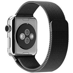 Apple Watch Band, LIANSING Milanese loop Apple Watch stainless steel band Bracelet Smart Watch Strap iwatch band with unique magnet lock Smart Watch Accessories for Apple Watch Band Black Apple Watch 42mm, Apple Watch Serie 1, Buy Apple Watch, Watch 2, Silver Linings, Walpaper Black, Sport Watches, Stainless Steel Bracelet, Thing 1