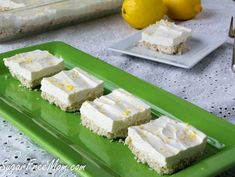 Sugar Free No Bake Lemon Cheesecake Bars